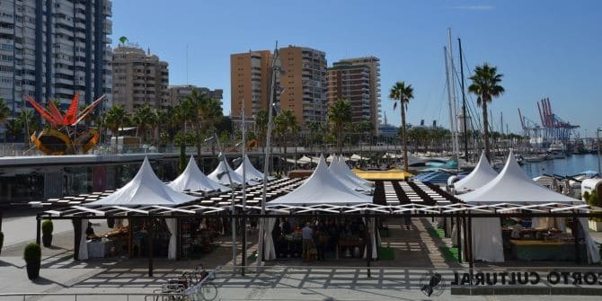 Oversøiske marked på Muelle Uno i Malaga